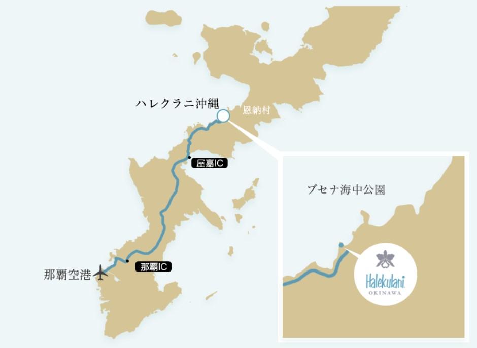 ハレクラニ沖縄MAP