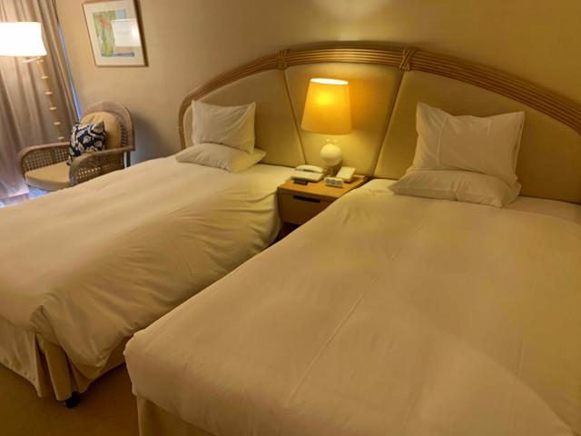 サザンビーチホテルのベッド