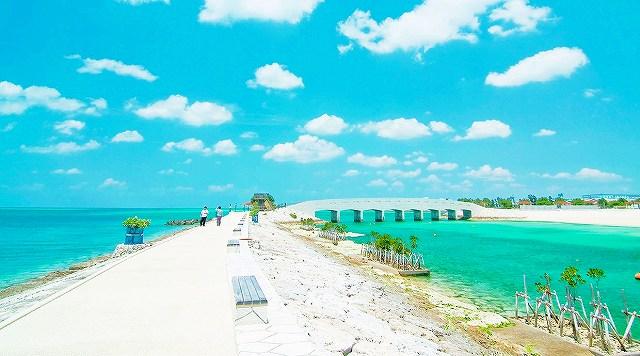 美々ビーチの橋